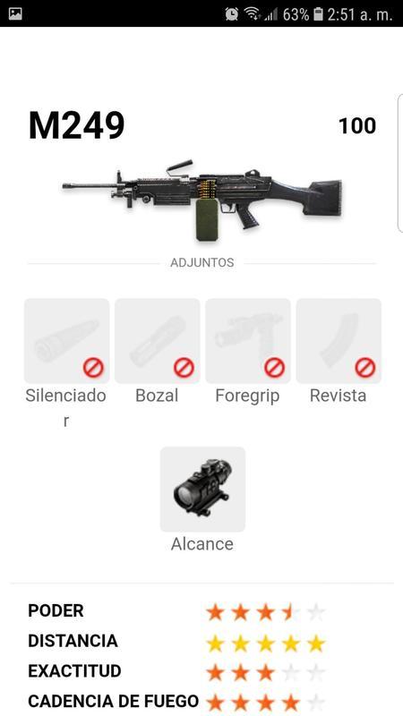 Free Fire Guide Configuración de las Armas for Android