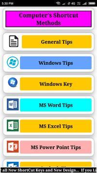 Computer's Shortcut methods poster