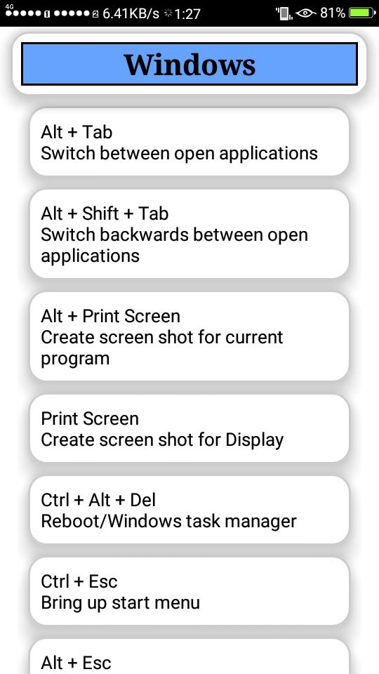 Computer Shortcut keys 2018-19 for Android - APK Download