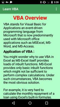 Learn VBA screenshot 3