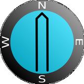 AR Bearing + Baseplate Compass Zeichen