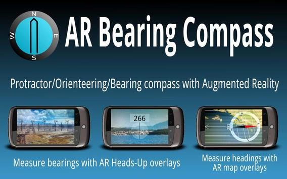 AR Bearing + Baseplate Compass Plakat
