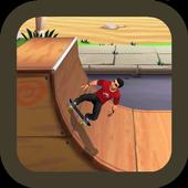 Mastering skateboard icon