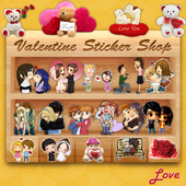 Valentine's Stickers,Smileys,Posters and Wallpaper ikon