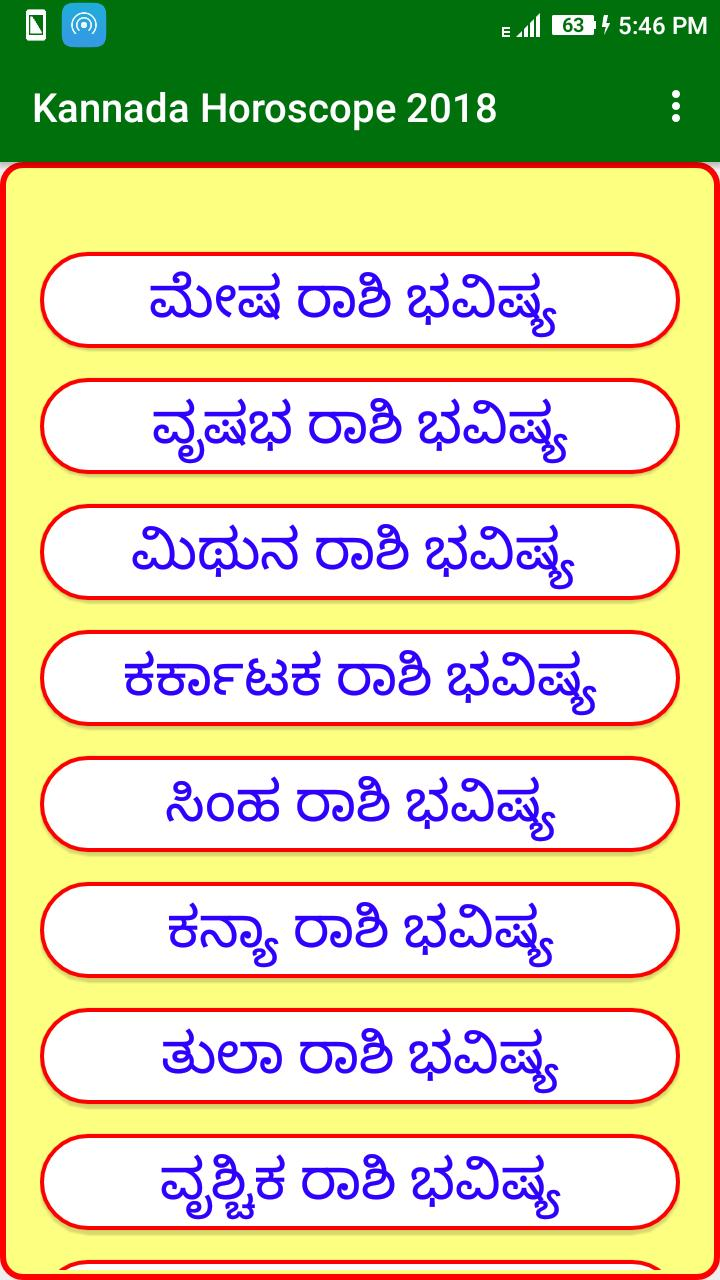 Kannada Horoscope 2019 For Android Apk Download