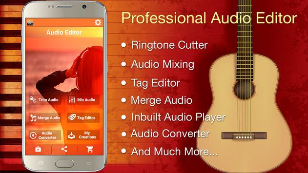 Audio MP3 Cutter Mix Converter and Ringtone Maker Poster