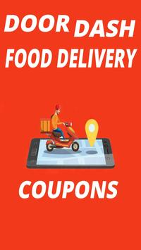 Doordash promo code, free delivery (80% off) poster