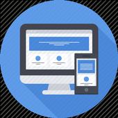 Plantilla de interfaz de usuario para aplicación icon