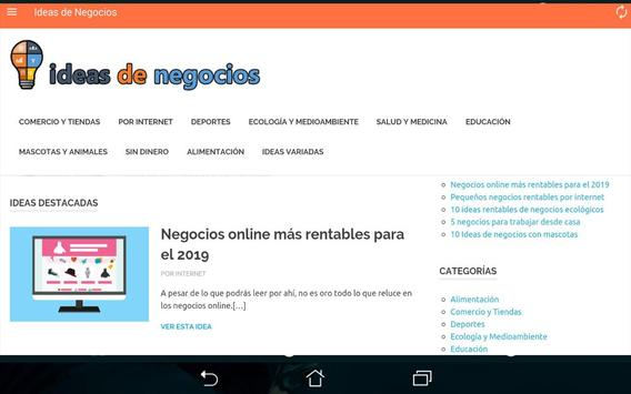 Ideas de Negocios screenshot 8