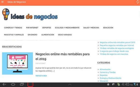 Ideas de Negocios screenshot 9