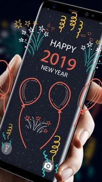 2019 New Year APUS Live Wallpaper screenshot 1
