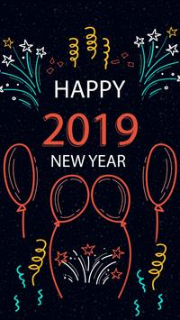2019 New Year APUS Live Wallpaper screenshot 3
