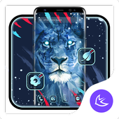 Brave Blue Lion APUS Launcher theme icon