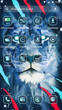 Brave Blue Lion APUS Launcher theme screenshot 1