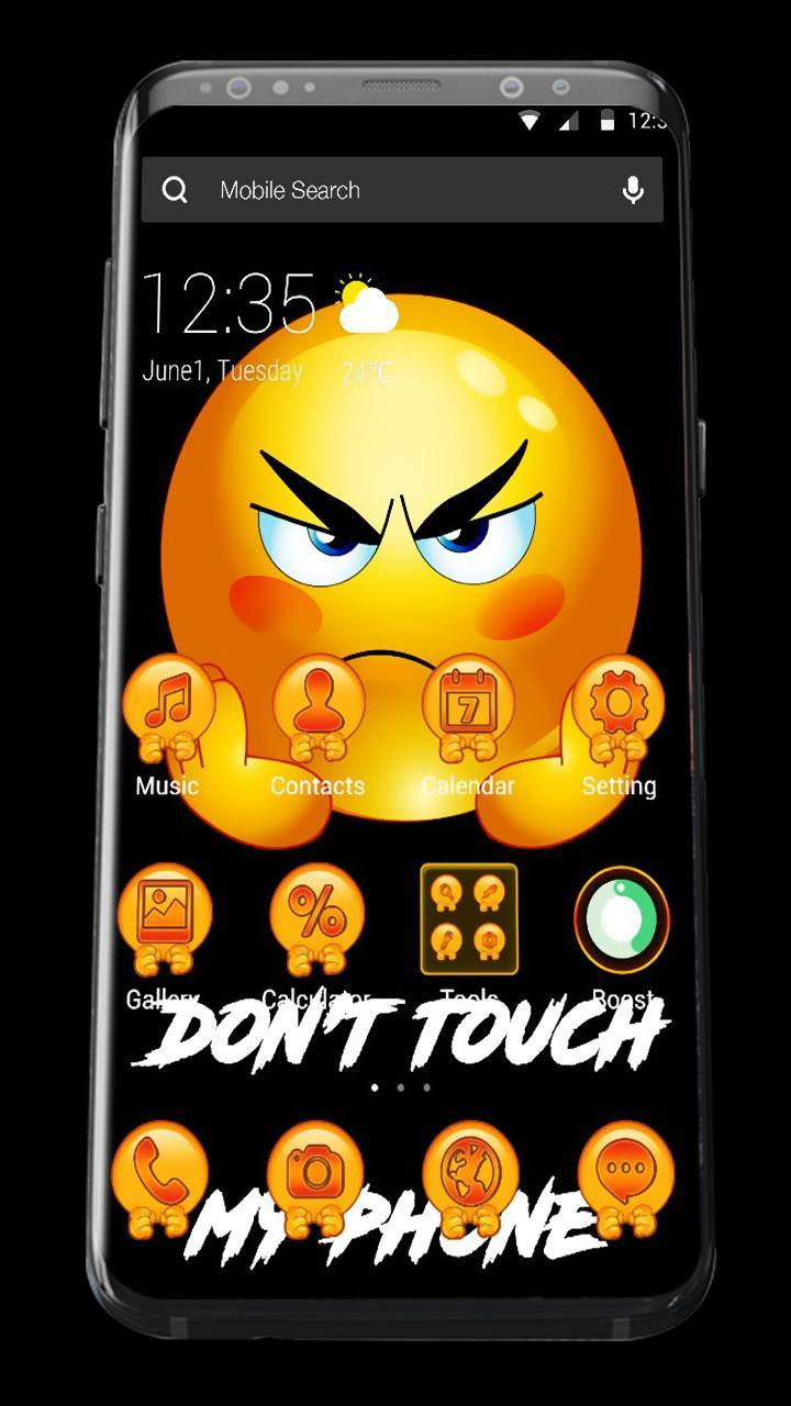 Don T Touch My Phone Emoji Apus Launcher Theme For Android Apk Download 1080 x 1920 file type : don t touch my phone emoji apus