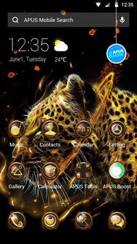 Fire Leopard Wolf--APUS Launcher fashion theme screenshot 2