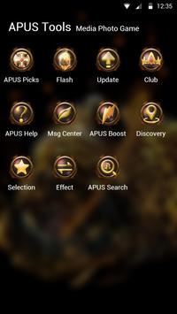 Fire Leopard Wolf--APUS Launcher fashion theme screenshot 4