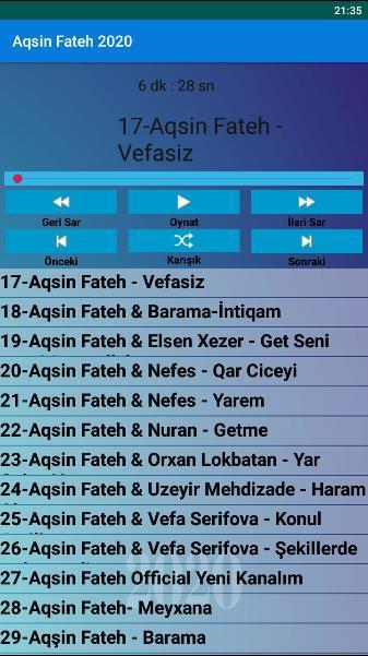 Aqsin Fateh Mahnilar 2020 Internetsiz For Android Apk Download