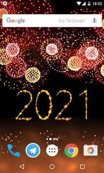 New Year 2021 Fireworks poster