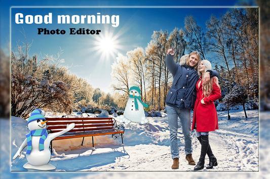 Good morning photo frame : Photo cut paste screenshot 3
