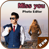 Miss You Cut Paste photo Frame icon