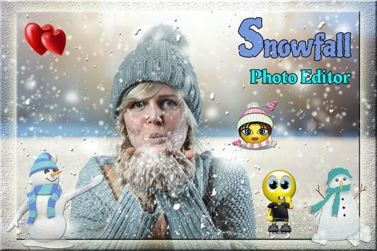 SnowFall Cut Paste Photo frame screenshot 3