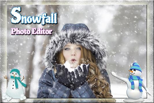 SnowFall Cut Paste Photo frame screenshot 1