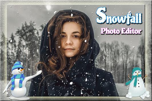 SnowFall Cut Paste Photo frame screenshot 2