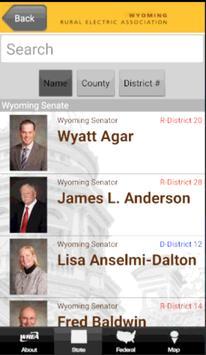 Wyoming Legislative Roster screenshot 1