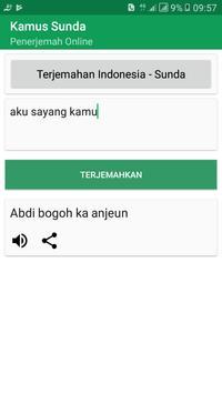 Kamus Bahasa Sunda (Terjemahan Kalimat) screenshot 2