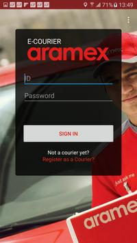 Aramex Courier poster