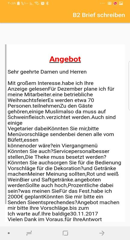 Brief Schreiben B2 For Android Apk Download