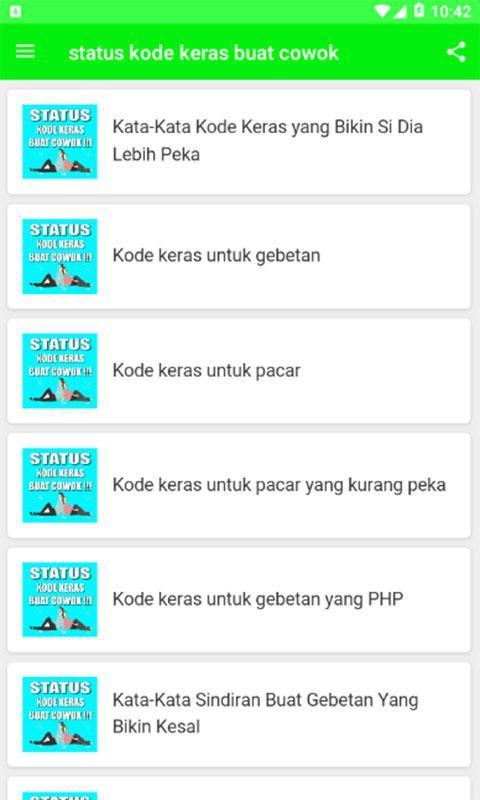 Status Kode Keras Buat Cowok Para Android Apk Baixar