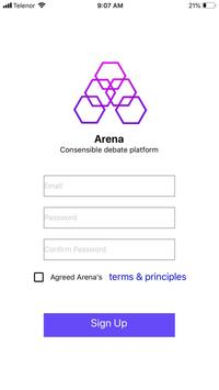 Arena Blockchain screenshot 2