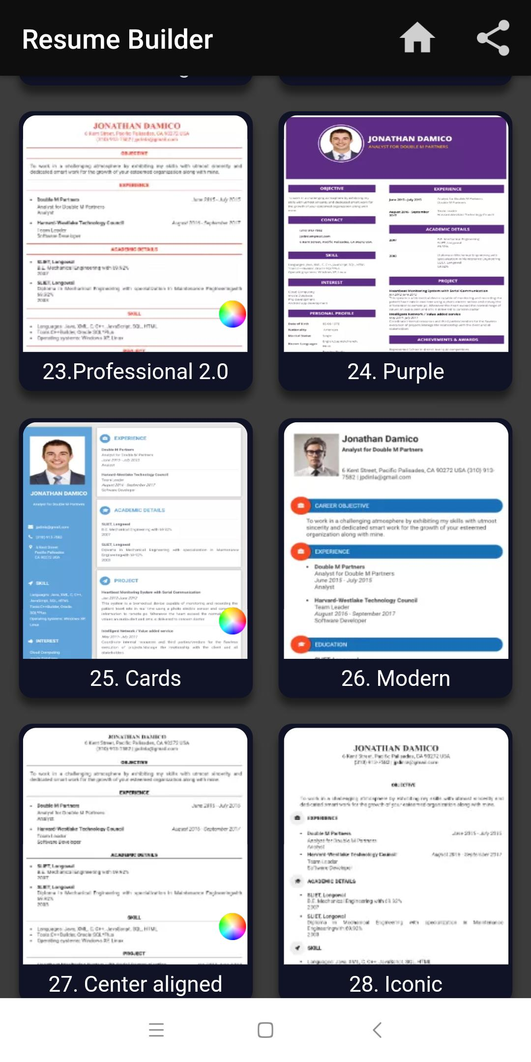 Resume Builder Free Cv Maker Templates Formats App For