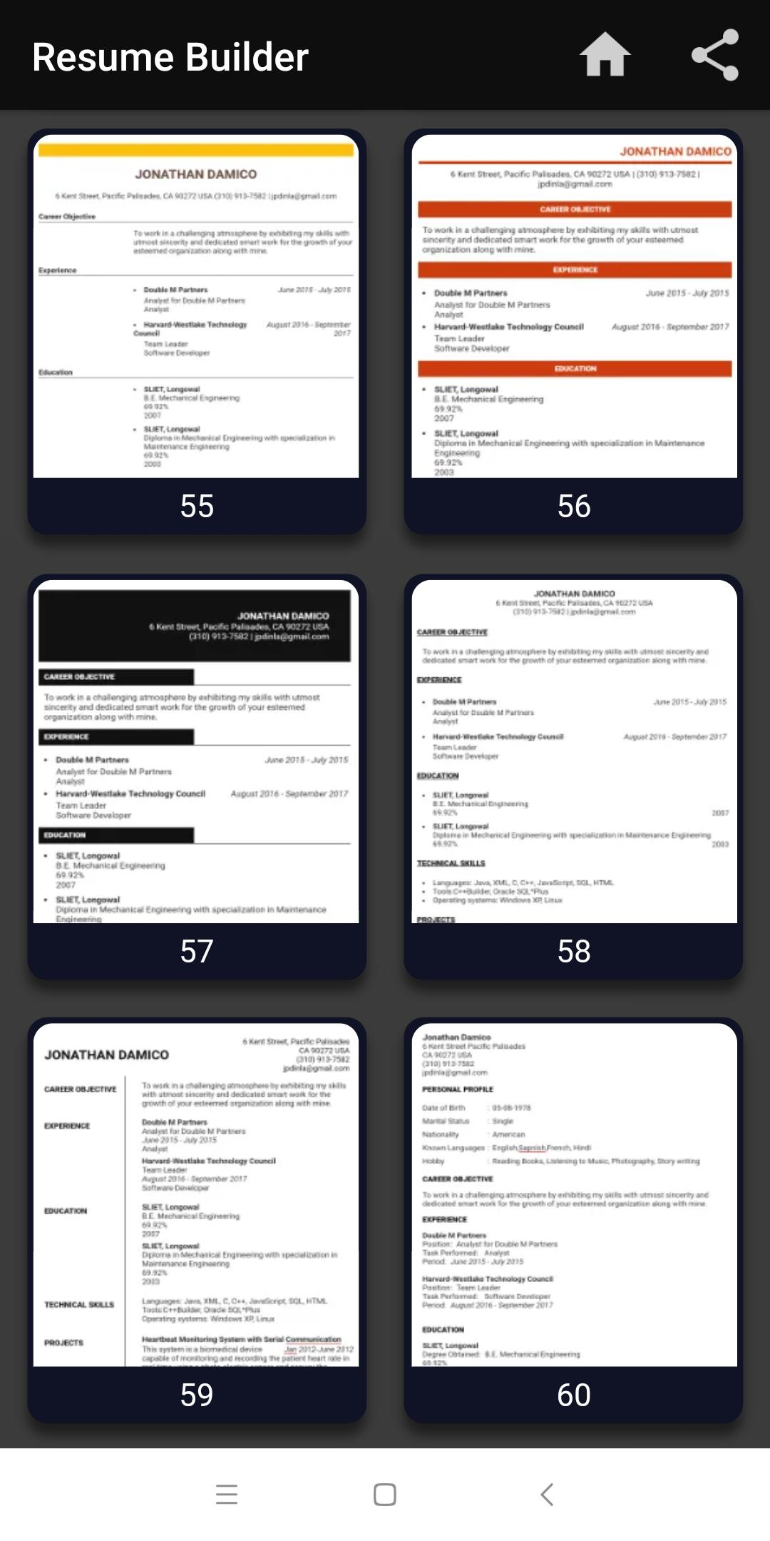 Resume Builder Free Cv Maker Templates Formats App For Android