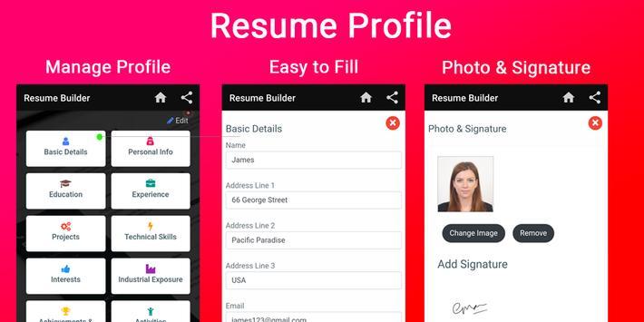 Resume builder Free CV maker templates formats app screenshot 15