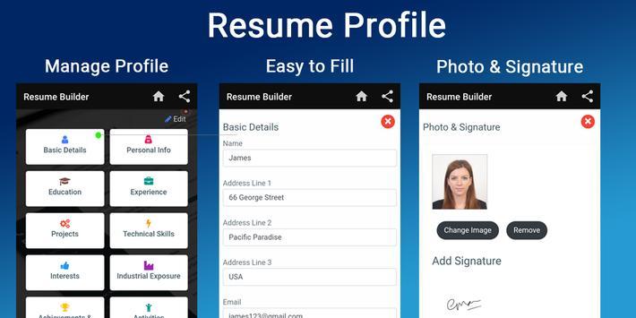 Resume builder Free CV maker templates formats app screenshot 1