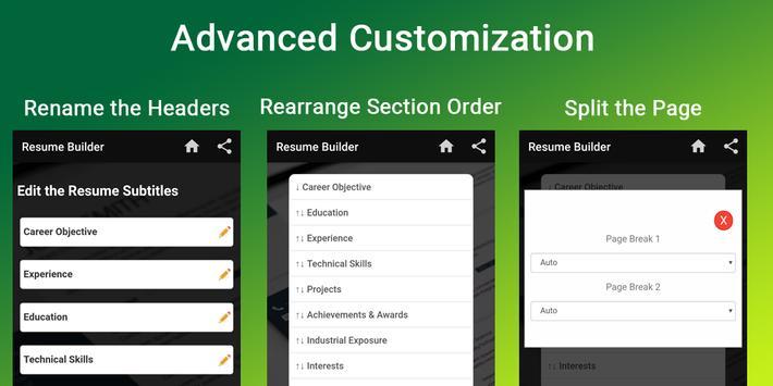 Resume builder Free CV maker templates formats app screenshot 2
