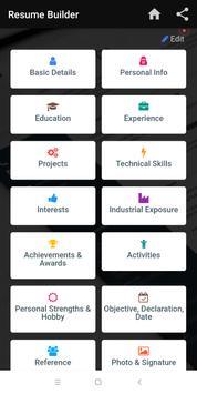 Resume builder Free CV maker templates formats app screenshot 4