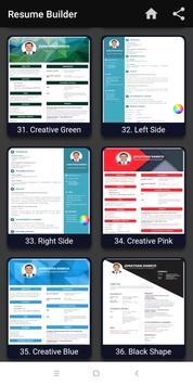 Resume builder Free CV maker templates formats app screenshot 6