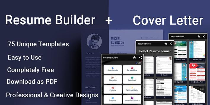 Resume builder Free CV maker templates formats app screenshot 8