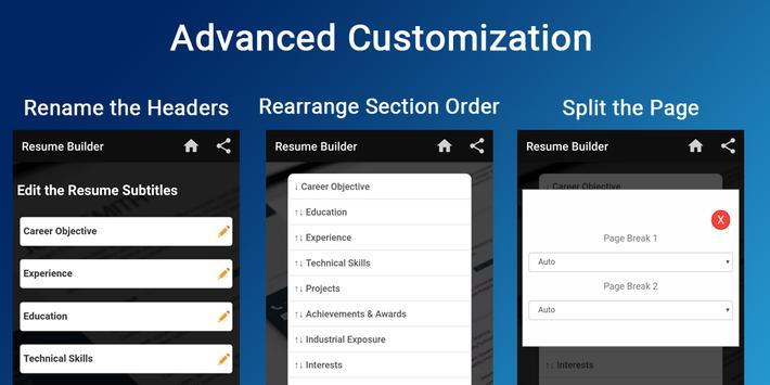 Resume builder Free CV maker templates formats app screenshot 9