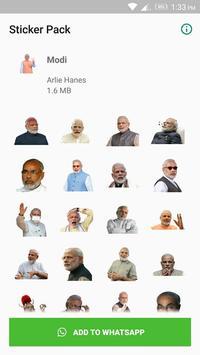 Modi Sticker for WhatsApp poster