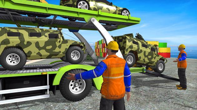 2 Schermata Army  Cars Transport Simulator 2019