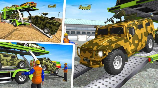 5 Schermata Army  Cars Transport Simulator 2019