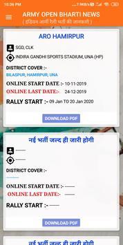 Indian Army Open Rally Bharti News screenshot 4