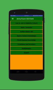 Army Exam GD/Clerk screenshot 1