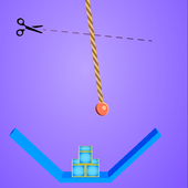 Rope Cutter 3D - Best  fun rope cutting ball game icon