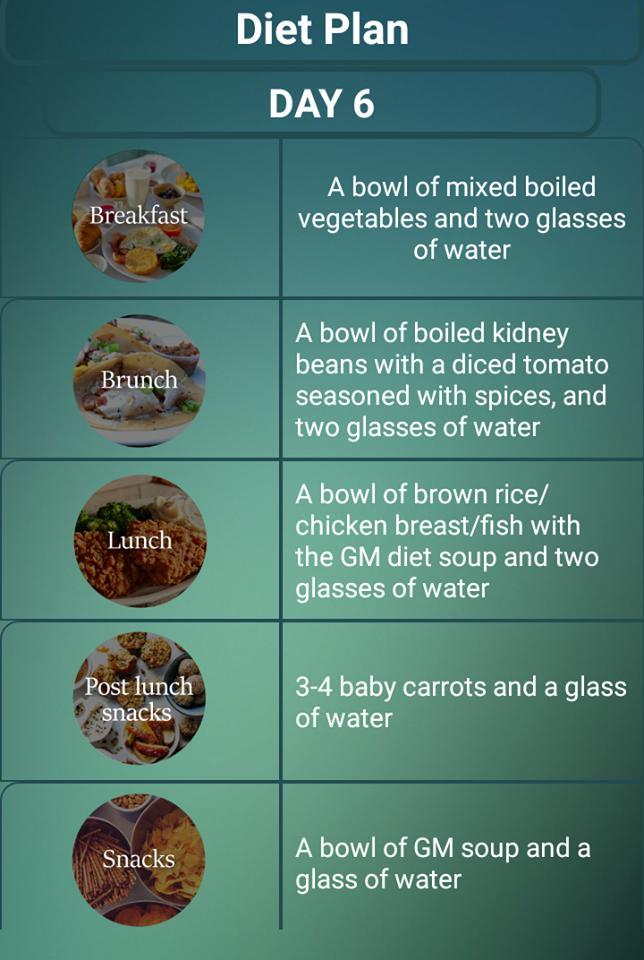 plan de dieta para descabalgar de balanza en 7 días